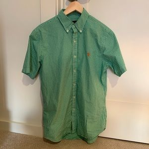 Ralph Lauren Green Short sleeve Button Down.